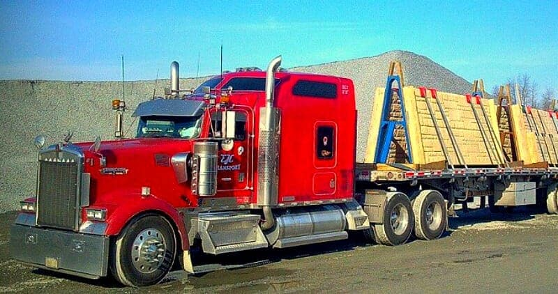 2002 Kenworth W900 Rig Red