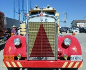 1950 Yellow Red Kenworth