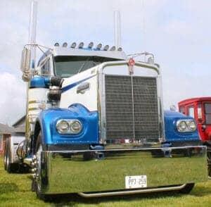 1968 White Blue W900A Kenworth