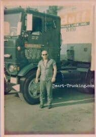 1969 Crackerbox Cabover with Trucker Owner