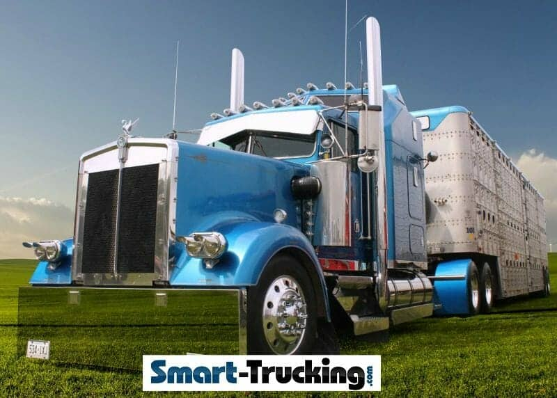 1994 Kenworth W900 Show Truck Blue With Trailer