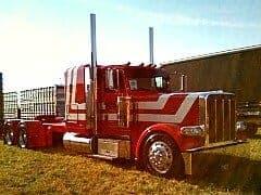 Red Peterbilt Truck Shell Super Rigs