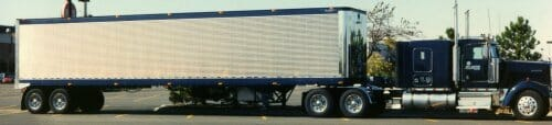 1993 Kenworth W900 with Stainless Van Trailer