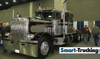 359 Peterbilt Black Gray Custom Rig