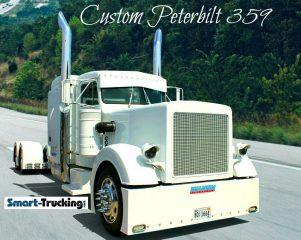 White Custom 359 Peterbilt Truck