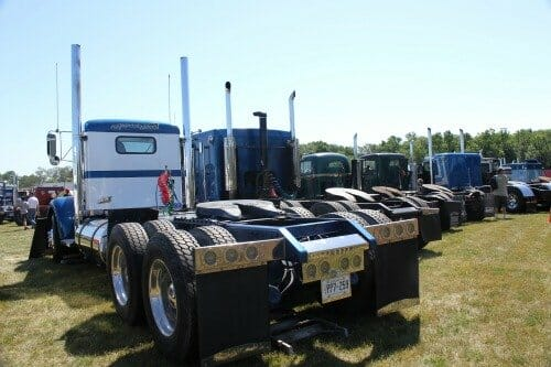Line up of trucks at Clifford Truck SHow