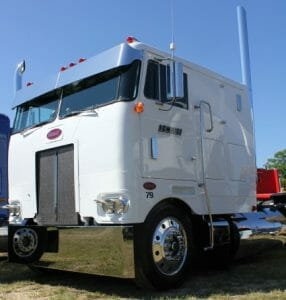 Cabover Peterbilt Truck White