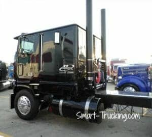 Custom Black Cabover Big Rig
