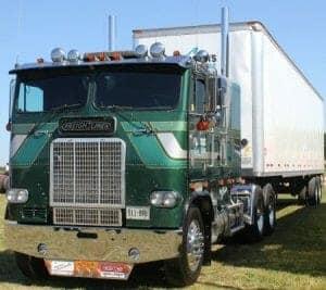 Green Cabover Freightliner