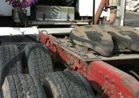 Fifth Wheel on a Big Rig Truck