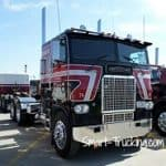 Black Red Cabover Freightliner Big Rig