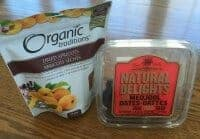 Healthy dried fruit snack