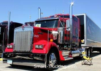 Red Black Kenworth Custom Truck