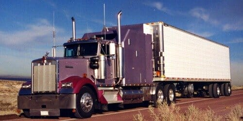 1994 Kenworth W900B Custom Sleeper Purple