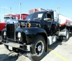 Restored Black Mack Truck Walcott IA