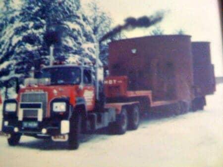 Mack Truck Hauling Oversized Load 1980s