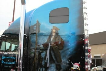 Pirates of the Caribbean Mural on Big Rig