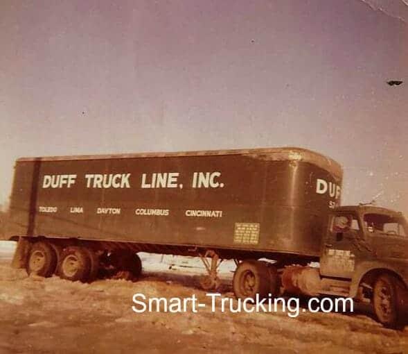 Old R Model International Big Rig Duff Truck Line