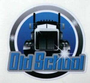 Blue White Old School Trucker Decal