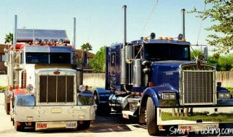 Peterbilt 387 and 1984 Kenworth W900B Big Rigs