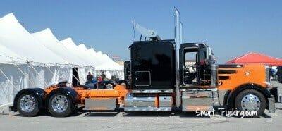 Peterbilt Show Truck Black Orange