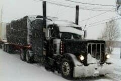 Idling a Big Rig in Cold Weather