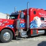 Big Bunk Peterbilt with Custom Eagle Mural