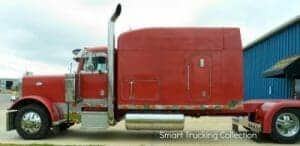 Red Custom Bunk Peterbilt Rig