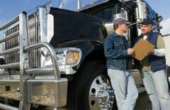 two truck drivers