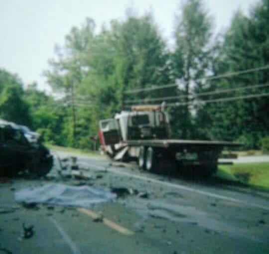 Big Truck Accident Scene Maryland U.S.