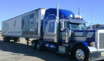 Peterbilt 379 Blue Owner Operator Truck