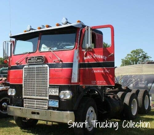 White Freightliner Cabover