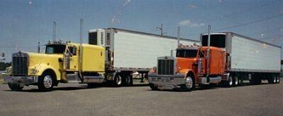 Kenworth W900A Stretch Yellow 359 Peterbilt Orange EXHD