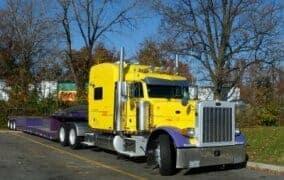 peterbilt 379 yellow purple