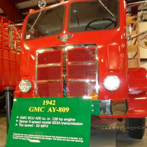 1942 Red GMC Cabover AY 809