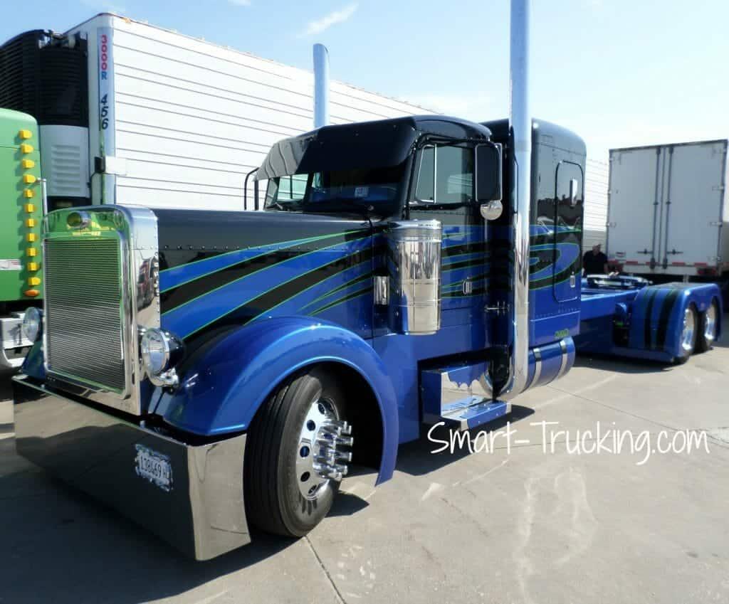 Disorderly Conduct Peterbilt 379 Show Truck Blue