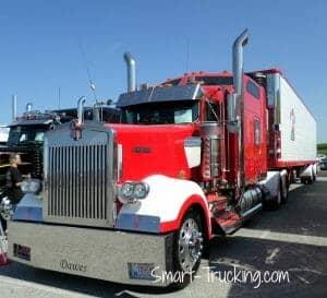 Red Kenworth W900 Walcott Truck Show