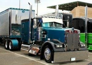 Kenworth W900L Truck Teal Blue