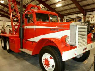Red White Vintage Freightliner Truck