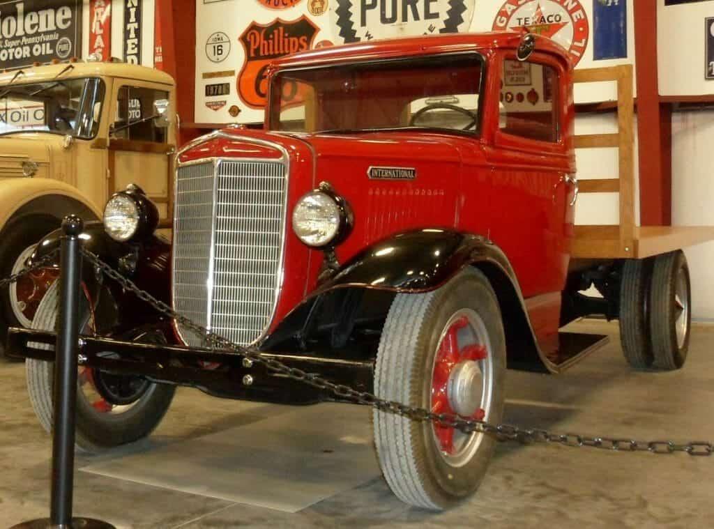Red Vintage Model International