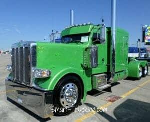 Green 389 Peterbilt Custom Rig