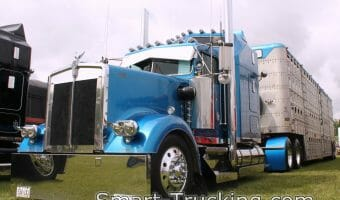 1994 W900L Kenworth Blue Rig