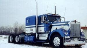 1979 Kenworth W900A Blue White Old School Truck