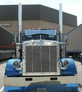Blue Peterbilt 359 Show Truck