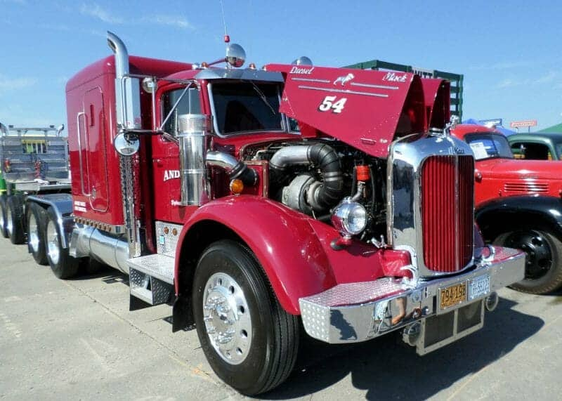 1954 Red  B Model Mack Truck