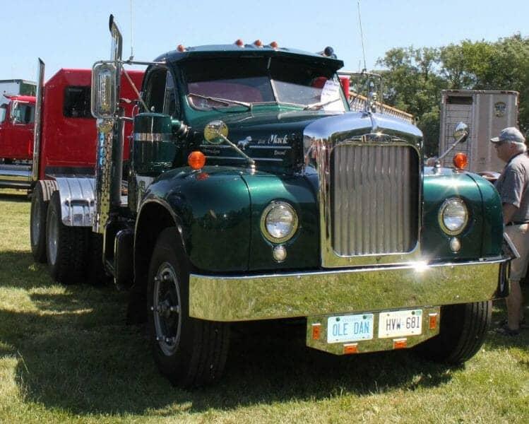 1957 Green B61 Mack Truck