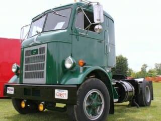 1957 Green Mack Cabover Truck H63 Model