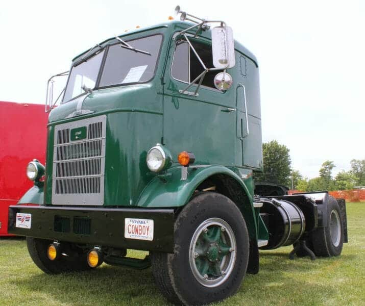 1957 Green Mack Cabover Truck H63 Model