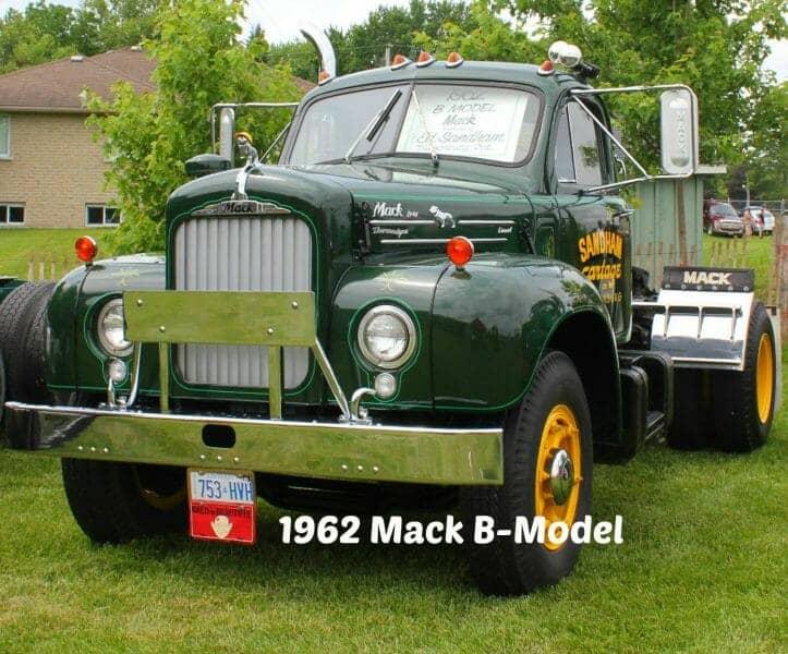 1962 Green B Model Mack