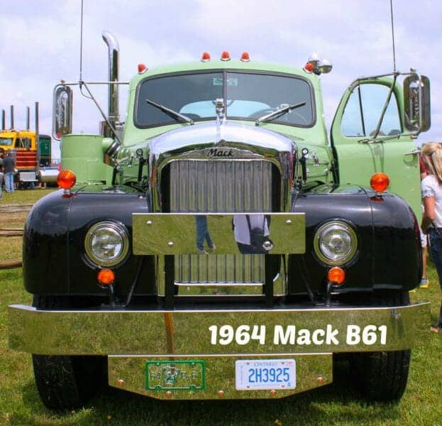 1964 B61 Model Mack Truck Green Black